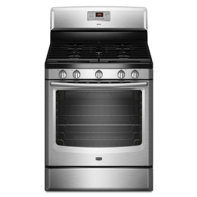 Maytag 5-Burner Freestanding 5.8-cu Self-Cleaning Gas Range (Stainless Steel) (Common: 30-in; Actual: 29.87-in)
