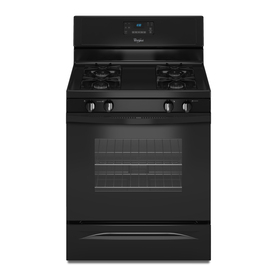 Whirlpool Freestanding 5-cu Self-Cleaning Gas Range (Black) (Common: 30-in; Actual: 29.87-in)