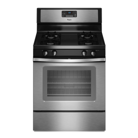 Whirlpool 30-in Freestanding 5 cu ft Gas Range (Stainless Steel)