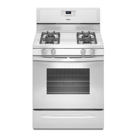 Whirlpool Freestanding 5-cu Self-Cleaning Gas Range (White) (Common: 30-in; Actual: 29.87-in)