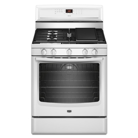 Maytag 30-in 5-Burner Freestanding 5.8 cu ft Convection Gas Range (White)