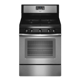 Whirlpool 5-Burner Freestanding 5-cu Self-Cleaning Gas Range (Stainless Steel) (Common: 30-in; Actual: 29.87-in)
