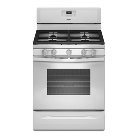 Whirlpool 30-in 5-Burner Freestanding 5 cu ft Gas Range (White)