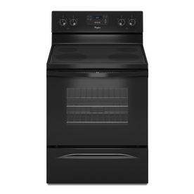 Whirlpool 30-in Smooth Surface Freestanding 4-Element 4.8 cu ft Self-Cleaning Electric Range (Black)