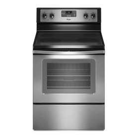 Whirlpool 30-in Freestanding Smooth Surface 4.8 cu ft Self-Cleaning Electric Range (Stainless Steel)