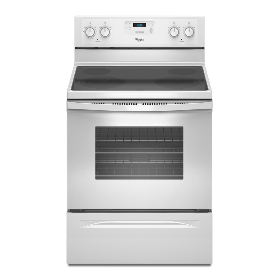 Shop Whirlpool Smooth Surface Freestanding 4 8 Cu Ft Self