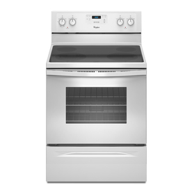 Whirlpool 30-in Freestanding Smooth Surface 4.8 cu ft Self-Cleaning Electric Range (White)