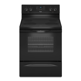 Whirlpool Smooth Surface Freestanding 4.8-cu ft Electric Range (Black) (Common: 30-in; Actual: 29.87-in)