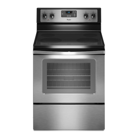 Whirlpool Smooth Surface Freestanding 4.8-cu ft Electric Range (Stainless Steel) (Common: 30-in; Actual: 29.875-in)