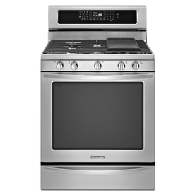 KitchenAid Architect Ii 5-Burner Freestanding 5.8-cu Self-Cleaning Convection Gas Range (Stainless Steel) (Common: 30-in; Actual: 29.93-in)