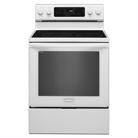 KitchenAid Architect 30-in Smooth Surface Freestanding 5-Element 6.2-cu ft Self-Cleaning Convection Electric Range (White)