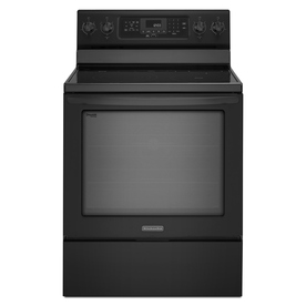 KitchenAid Architect II Smooth Surface Freestanding 5-Element 6.2-cu ft Self-Cleaning Convection Electric Range (Black) (Common: 30-in; Actual: 29.94-in)