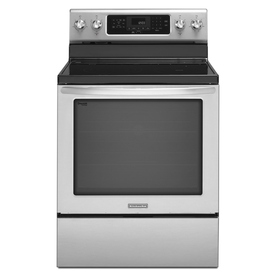 KitchenAid Architect II Smooth Surface Freestanding 5-Element 6.2-cu ft Self-Cleaning Convection Electric Range (Stainless Steel) (Common: 30-in; Actual: 29.94-in)
