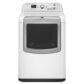 Maytag Bravos XL 7.3-cu ft Electric Dryer with Steam Cycle (White)