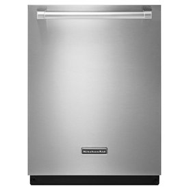 KitchenAid Superba 24-in 46-Decibel Built-In Dishwasher with Hard Food Disposer and Stainless Steel Tub (Stainless Steel) ENERGY STAR