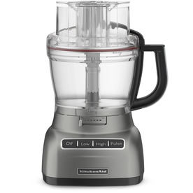 KitchenAid 13-Cup 420-Watt Contour Silver 5-Blade Food Processor