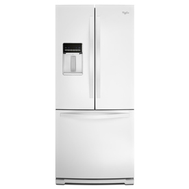 Whirlpool 19.7-cu ft French Door Refrigerator with Single Ice Maker (White)