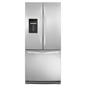 Whirlpool 19.7-cu ft French Door Refrigerator with Single Ice Maker (Stainless Steel)
