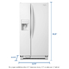 Whirlpool 21.2-cu ft Side-by-Side Refrigerator with Single Ice Maker (White)