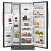 Whirlpool 21.2-cu ft Side-by-Side Refrigerator with Single Ice Maker (Black)