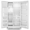 Whirlpool 24.5-cu ft Side-by-Side Refrigerator with Single Ice Maker (White)
