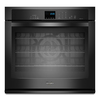 Whirlpool Gold 27-in Self-Cleaning Convection Single Electric Wall Oven (Black)