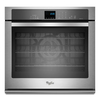 Whirlpool Gold 27-in Self-Cleaning Convection Single Electric Wall Oven (Stainless Steel)