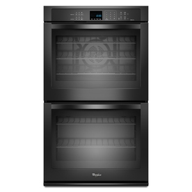 Whirlpool Self-Cleaning Convection Double Electric Wall Oven (Black) (Common: 27-in; Actual: 27-in)