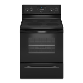 Whirlpool Smooth Surface Freestanding 5-Element 5.3-cu ft Self-Cleaning Electric Range (Black) (Common: 30-in; Actual: 29.87-in)