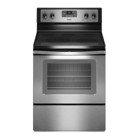 Whirlpool Smooth Surface Freestanding 5-Element 5.3-cu ft Self-Cleaning Electric Range (Stainless Steel) (Common: 30-in; Actual: 29.87-in)