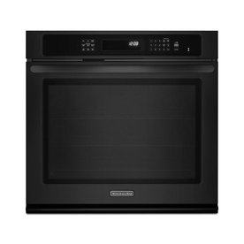 KitchenAid Architect II Self-Cleaning Convection Single Electric Wall Oven (Black) (Common: 27-in; Actual 27-in)