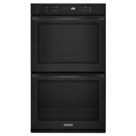 KitchenAid Architect 30-in Self-Cleaning Double Electric Wall Oven (Black)