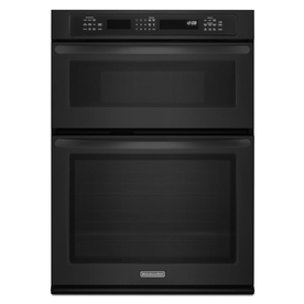 KitchenAid 27-in Self-Cleaning Convection Microwave Wall Oven Combo (Black)