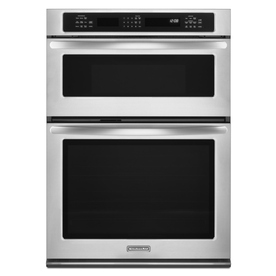 KitchenAid 27-in Self-Cleaning Convection Microwave Wall Oven Combo (Stainless Steel)
