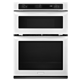 KitchenAid Self-Cleaning Microwave Convection Microwave Wall Oven Combo (White) (Common: 27-in; Actual: 27-in)
