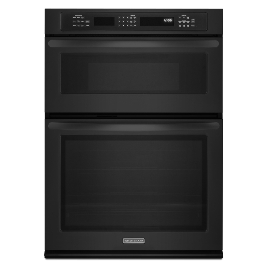Shop kitchenaid self cleaning microwave convection microwave wall oven combo black common 30 - Kitchenaid microwave ...