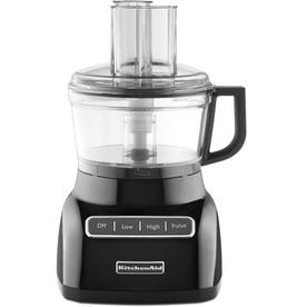 KitchenAid 7-Cup 320-Watt Onyx Black 3-Blade Food Processor