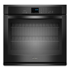 Whirlpool Self-Cleaning with Steam Single Electric Wall Oven (Black) (Common: 27-in; Actual 27-in)