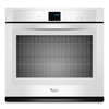 Whirlpool Self-Cleaning with Steam Single Electric Wall Oven (White) (Common: 27-in; Actual 27-in)
