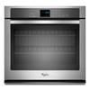 Whirlpool Self-Cleaning with Steam Single Electric Wall Oven (Stainless Steel) (Common: 30-in; Actual 30-in)