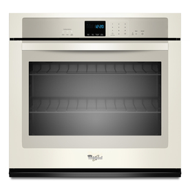 Whirlpool 30-in Self-Cleaning Single Electric Wall Oven (Biscuit)