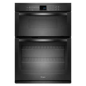 Whirlpool Self-Cleaning with Steam Microwave Wall Oven Combo (Black) (Common: 30-in; Actual 30-in)