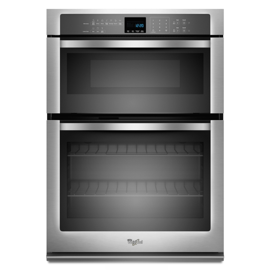 Shop Whirlpool Self-Cleaning with Steam Microwave Wall Oven Combo (Stainless Steel) (Common: 30 ...