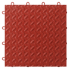 Gladiator 12-in x 12-in Red Tread Plate Garage Vinyl Tile