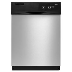 Whirlpool 59-Decibel Built-in Dishwasher (Black-On-Stainless) (Common: 24-in; Actual 23.875-in) ENERGY STAR
