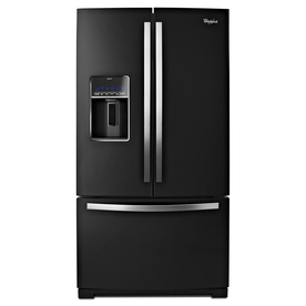 Whirlpool 26.8-cu ft French Door Refrigerator with Single Ice Maker (Black Ice)