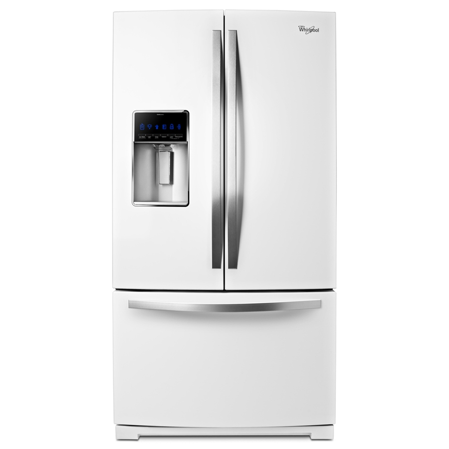 Shop Whirlpool 26.8-cu ft French Door Refrigerator with ...