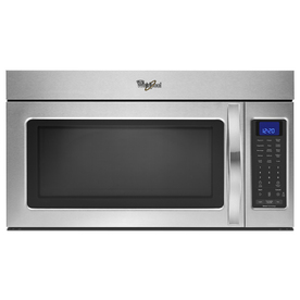 Whirlpool 1.9-cu ft Over-The-Range Microwave with Sensor Cooking Controls (Stainless Steel) (Common: 30-in; Actual: 29.938-in)