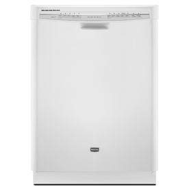 Maytag 57-Decibel Built-In Dishwasher with Hard Food Disposer (White) (Common: 24-in; Actual 23.875-in) ENERGY STAR