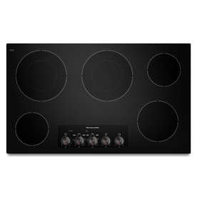 KitchenAid 36-in Smooth Surface Electric Cooktop (Black)